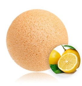 100% NATURAL AND VEGAN PUFF SPONGE FOR FACE AND BODY - ORANGE EXTRACT KONJAC SPONGE
