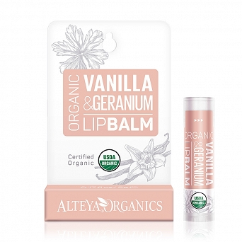 ORGANIC LIP BALM - VANILLA AND GERANIUM