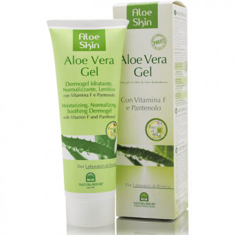 NATURAL ALOE VERA GEL WITH PHANTENOL - MOISTURIZING, SOOTHING DERMOGEL