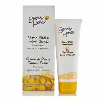 FOOT RELIEF CREAM - FOR DRY AND CRACKED HEELS - PEPPERMINT - HONEY - PROPOLIS