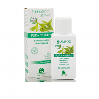 NATURAL SHAMPOO - G#OILY HAIR WITH DANDRUFF - NETTLE / HOP / WATERCRESS