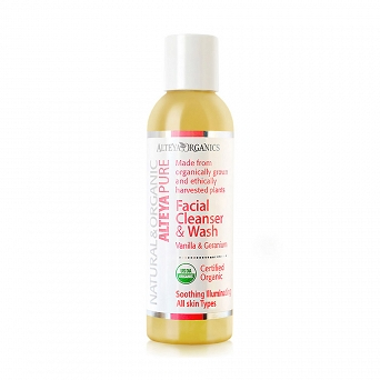 FACIAL CLEANSER AND WASH - VANILLA AND GERANIUM
